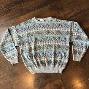 VTG 80s Pronto-Uomo Firenze Italian Knit Sweater L